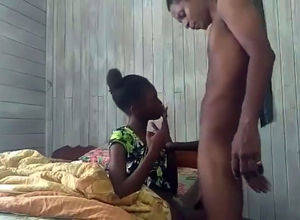 Ebony guyanese virgin gives head