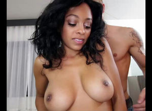 Nubile dark-hued stunner Anya Ivy with..