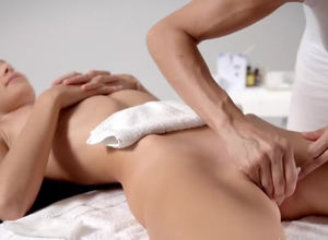 Waxing depilation for young woman..